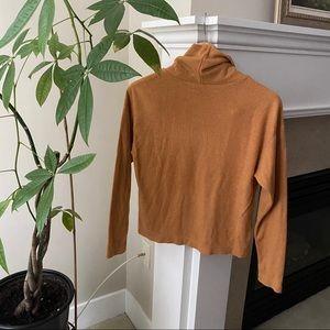 UNIQLO Camel Loose Fit Turtleneck Sweater
